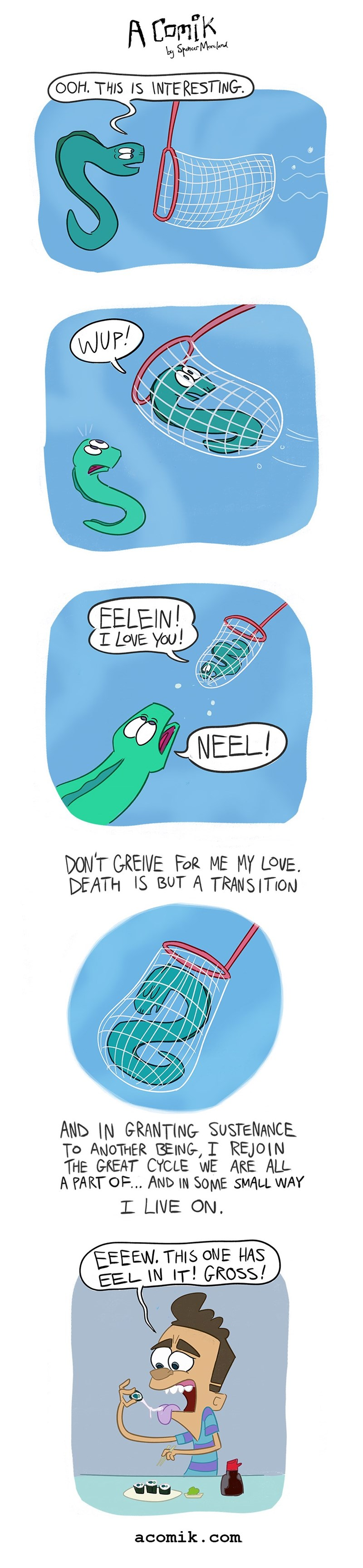 eel,sushi,web comics