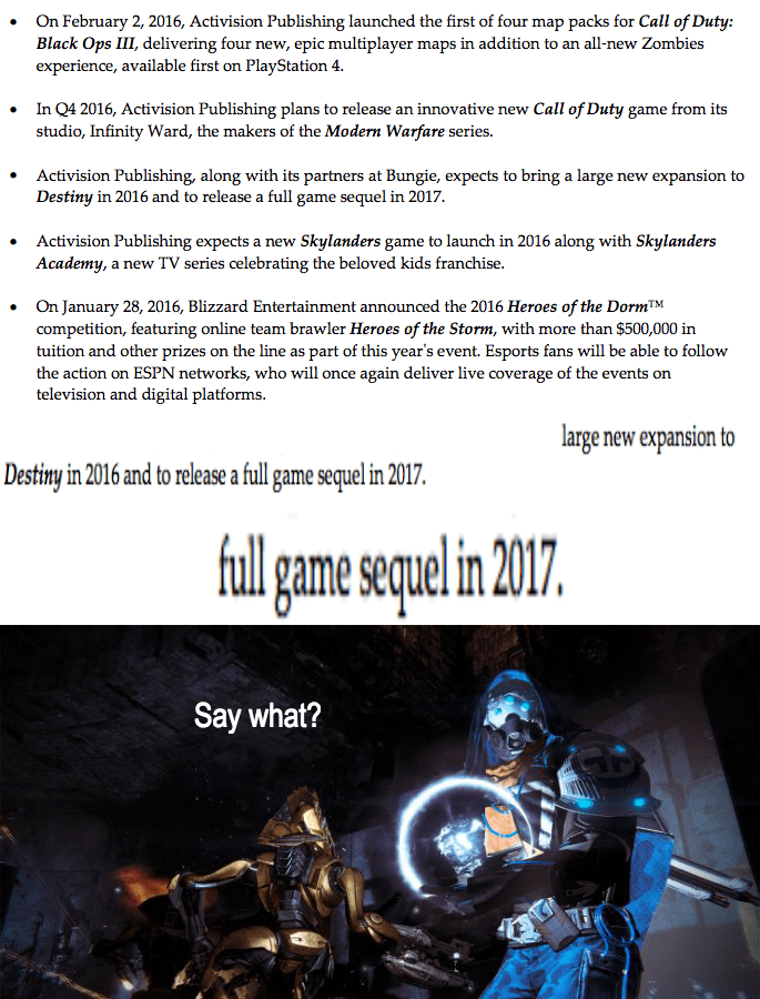 destiny sequel 2017
