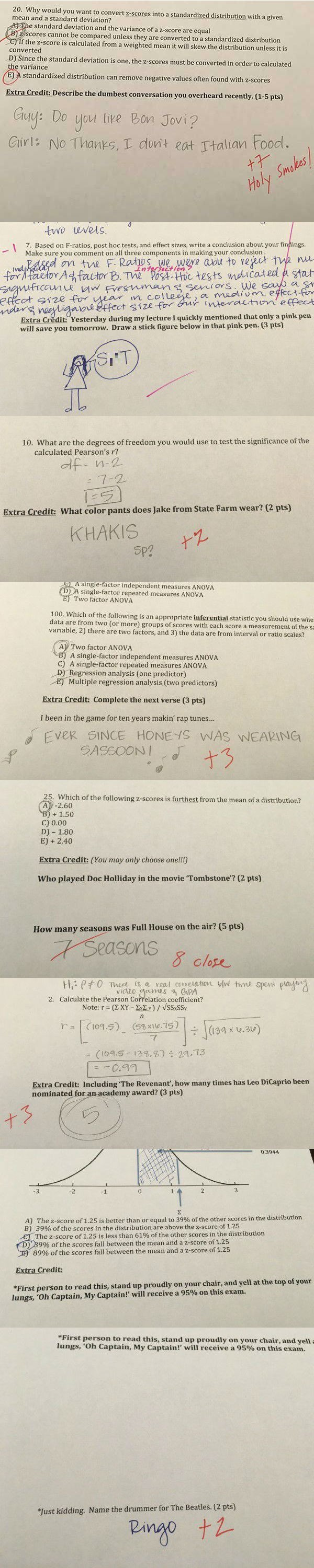 win image professor asks best extra credit questions