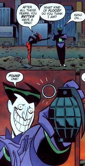 batman joker harley quinn So Romantic
