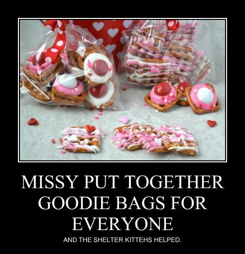 MISSY PUT TOGETHER GOODIE BAGS FOR EVERYONE