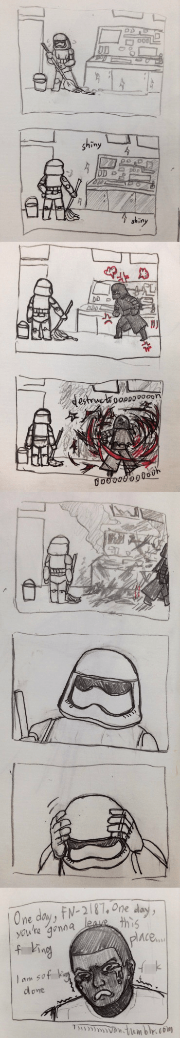 Fan Art,finn,star wars vii,web comics