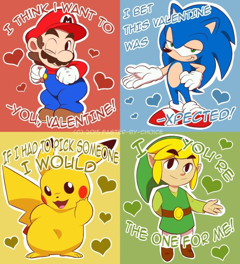 video game valentines