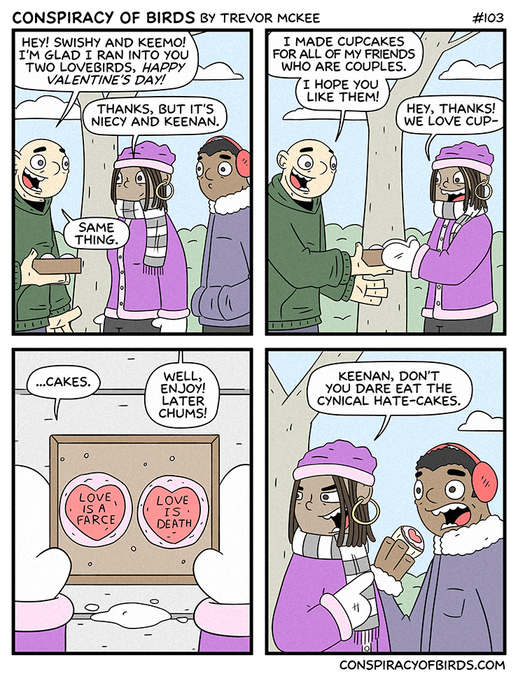 web comics cupcakes valentines day Maybe Love Is a Lie, But Cupcakes Will Never Fail You