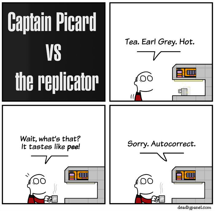 web comics star trek autocorrect Why Is This Even an Option!