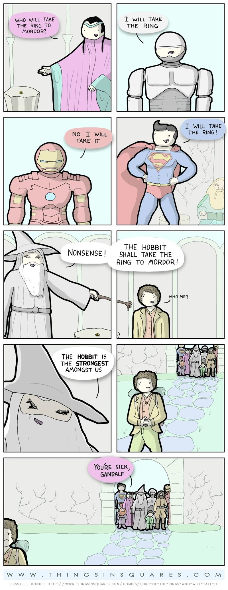 web comics lord of the rings He'll Be FIne