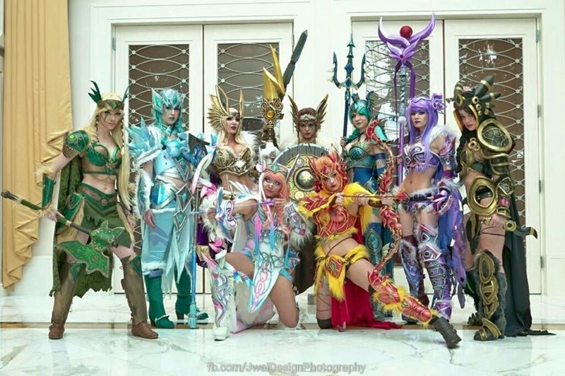 pokemon cosplay warrior eeveelutions