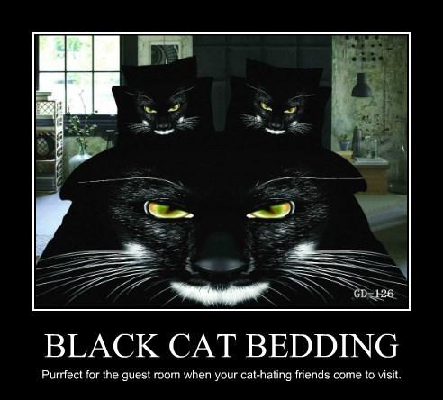 BLACK CAT BEDDING