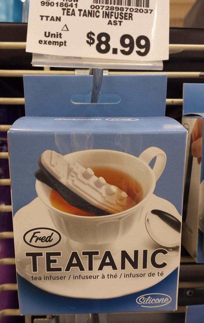 titanic product clever puns tea - 8751123200