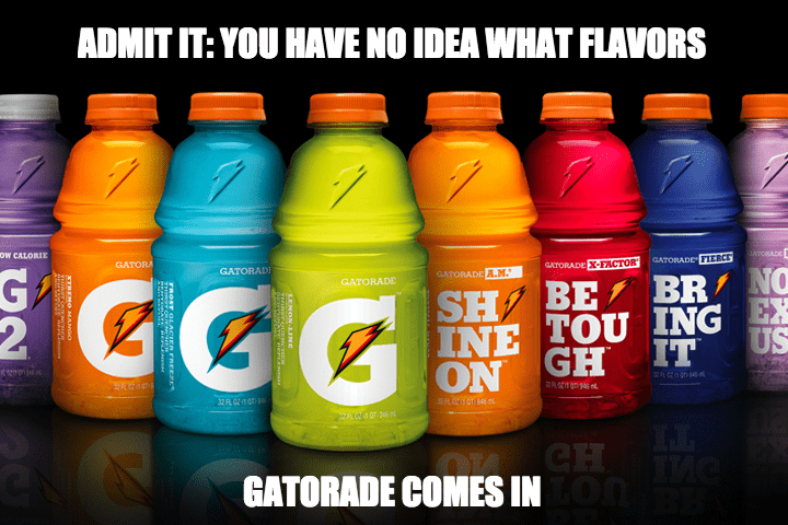 drinks,flavors,gatorade