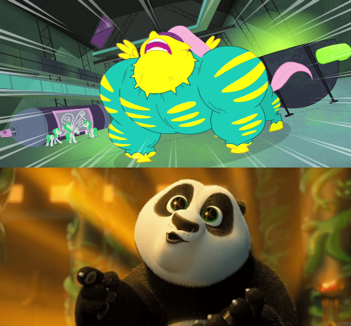 Kung Fu Panda,power ponies,fluttershy,saddle rager