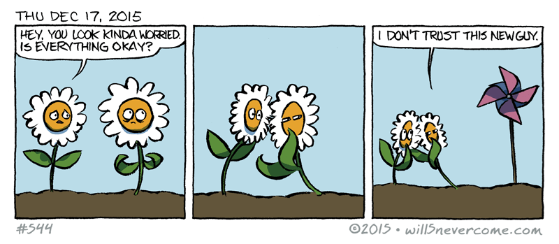 web comics flowers I've Seen His Head Spin