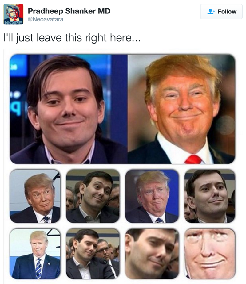 donald trump totally looks like martin shkreli