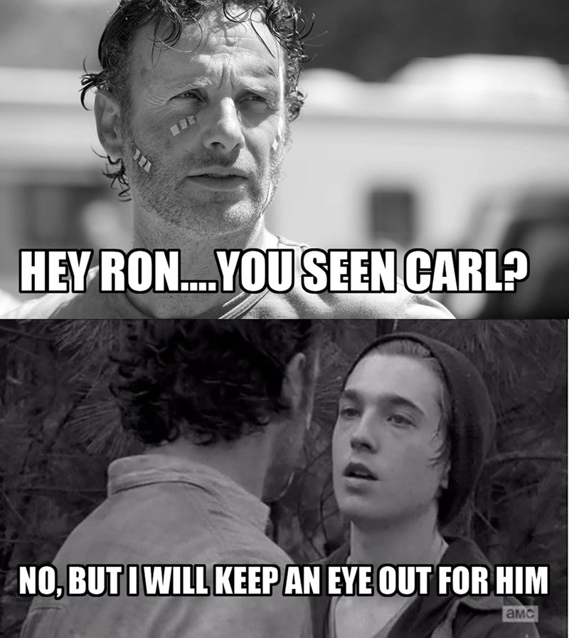 carl grimes,puns,eyes