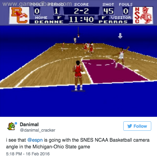 sports twitter ESPN Tried a Bold New Camera Angle and Everyone Hated It