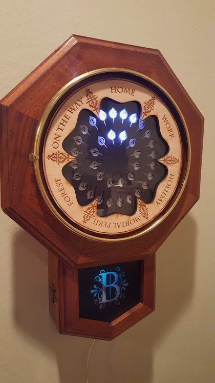 harry potter crafts Someone Used Digital Magic to Make a Real Life Weasley Clock