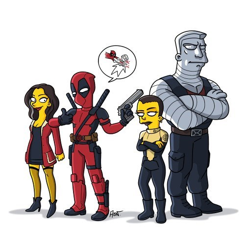 deadpool simpsons fan art Simpsonized Deadpool