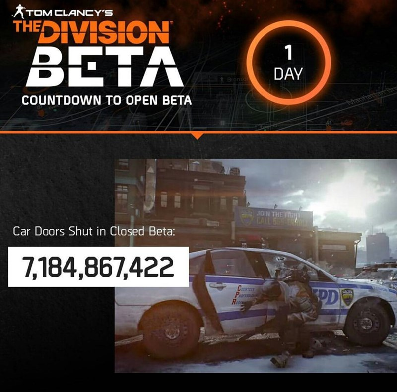 door beta the division Tom Clancy