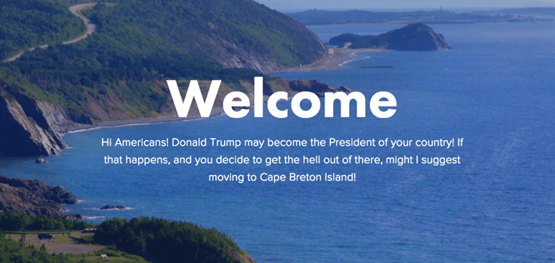 canada donald trump This Beautiful Canadian Island Is Welcoming Anyone and Everyone Who Wants to Escape a Trump Presidency