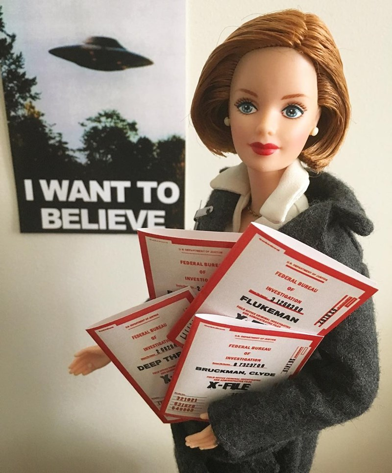 Doll - I WANT TO BELIEVE FEDERAL BURE FEDERAL BUREAU OF INVESTIO OF INVESTIGATION 1268390 FLUKEMAN E E FEDERAL BUREAU OF INVESTIGATIO 2 08284 FEDERAL BUREAU OF INVESTIGATION 8 7323708 BRUCKMAN, CLYDE DEEP THP X-FLE 321021 31628 549903