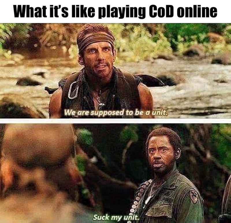funny memes playing cod online suck my unit