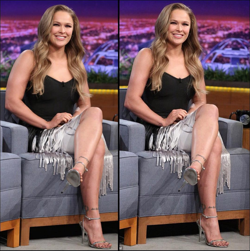 ronda rousey photoshop Ronda Rousey Apologized on Instagram for a Photoshopped Picture