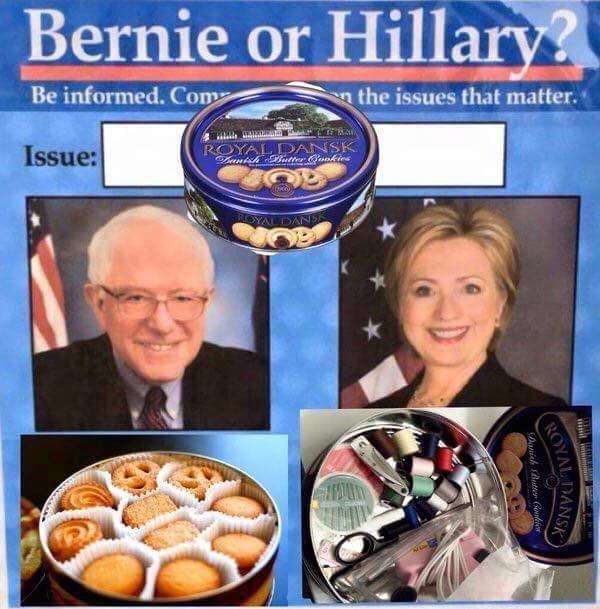sewing supplies bernie vs hillary - 8752597248