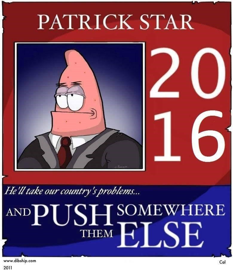 patrick star,SpongeBob SquarePants,politics