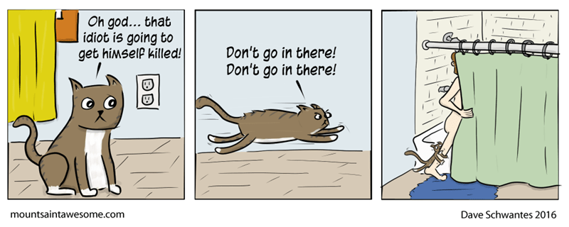 web comics cats See, Your Cat is Just Looking Out for You