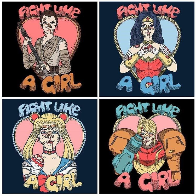 girl power for sale star wars t shirts sailor moon wonder woman samus aran - 8752679168
