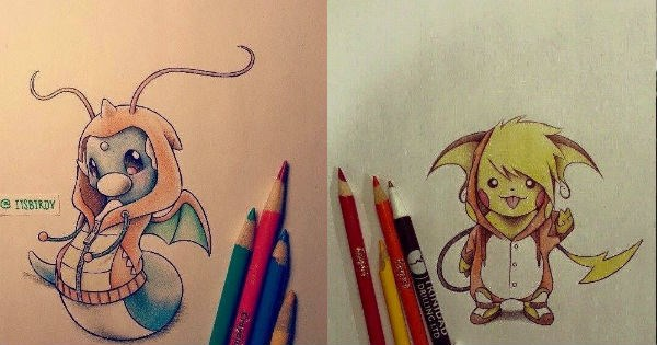 dratini,Pokémon,art,pokemon go,Fan Art,pokemon sun and moon,gengar,cute,pikachu,video games,nintendo