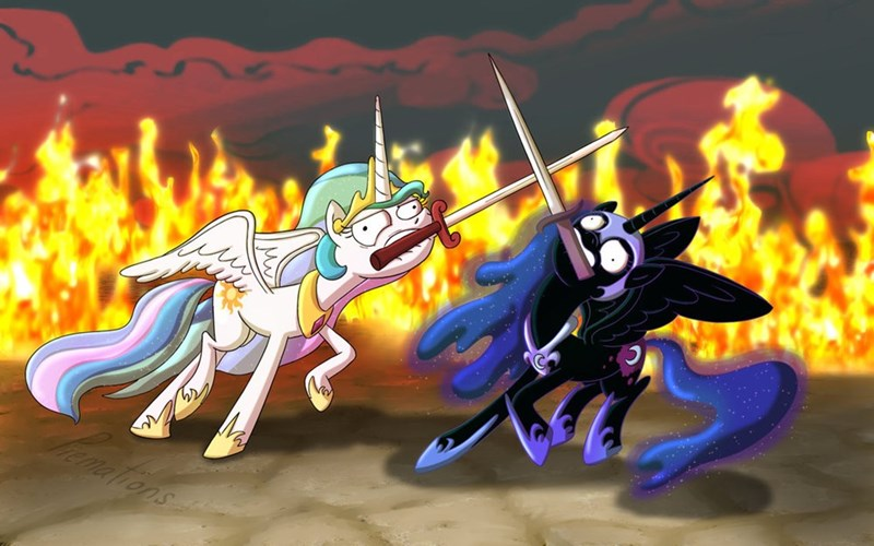 War Horse nightmare moon princess luna princess celestia - 8752843264