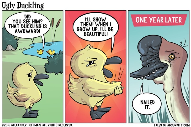 ugly duckling reality web comics - 8753009664