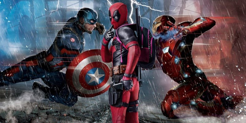 superheroes captain america deadpool It Looks Like Deadpool Chose a Side in the Avenger's Civil War