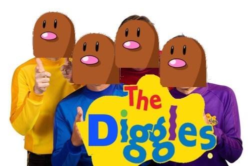 diglett the wiggles - 8753124096