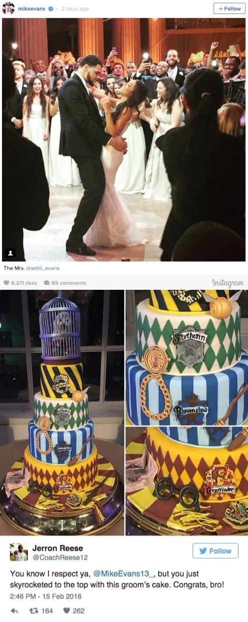 harry potter grooms cake mike evans buccaneers
