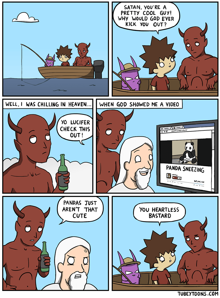 web comics panda satan Yep, That Makes Sense
