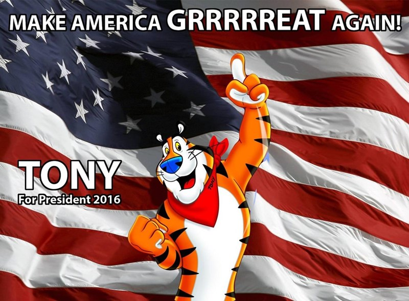 tony the tiger,politics