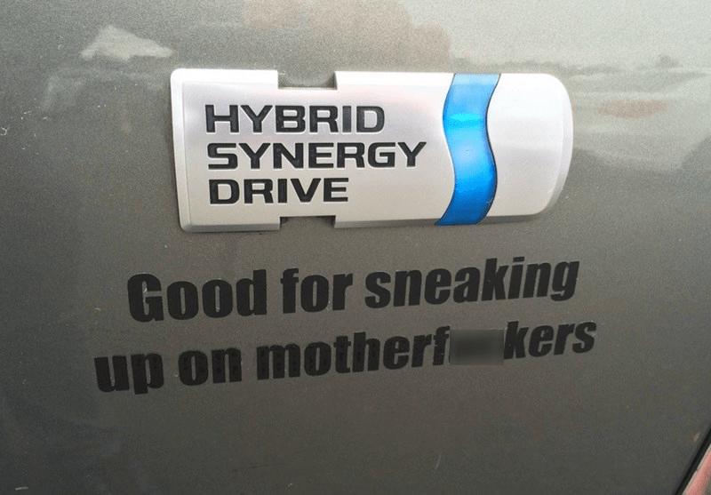 Prius,sticker,IRL,hybrid