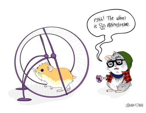 hipster hamster cartoons