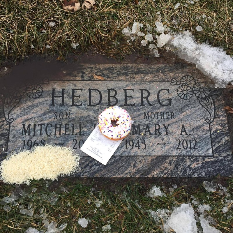 mitch hedberg donut A Fan Left a Clever and Tasty Tribute on Late Comedian Mitch Hedberg's Birthday