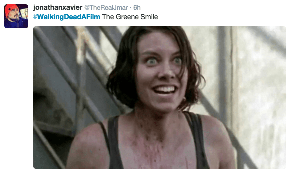 Face - jonathanxavier@TheRealJ mar 6h #WalkingDeadAFilm The Greene Smile