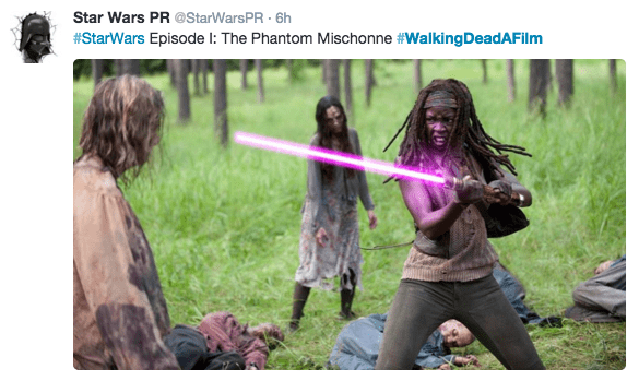 Adaptation - Star Wars PR @StarWarsPR- 6h #StarWars Episode I: The Phantom Mischonne #Walking DeadAFilm