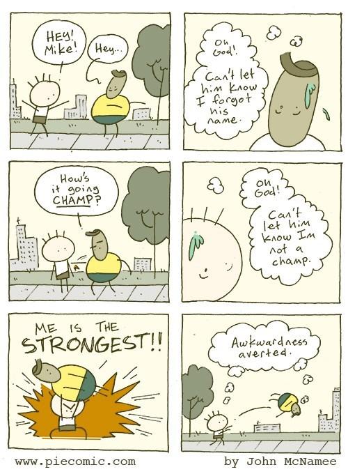 web comics names awkwardness Perfect Way to Handle That