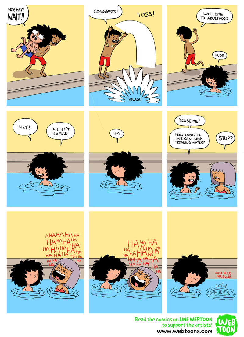 web comics pool metaphor You Should've Brought Some Floaties