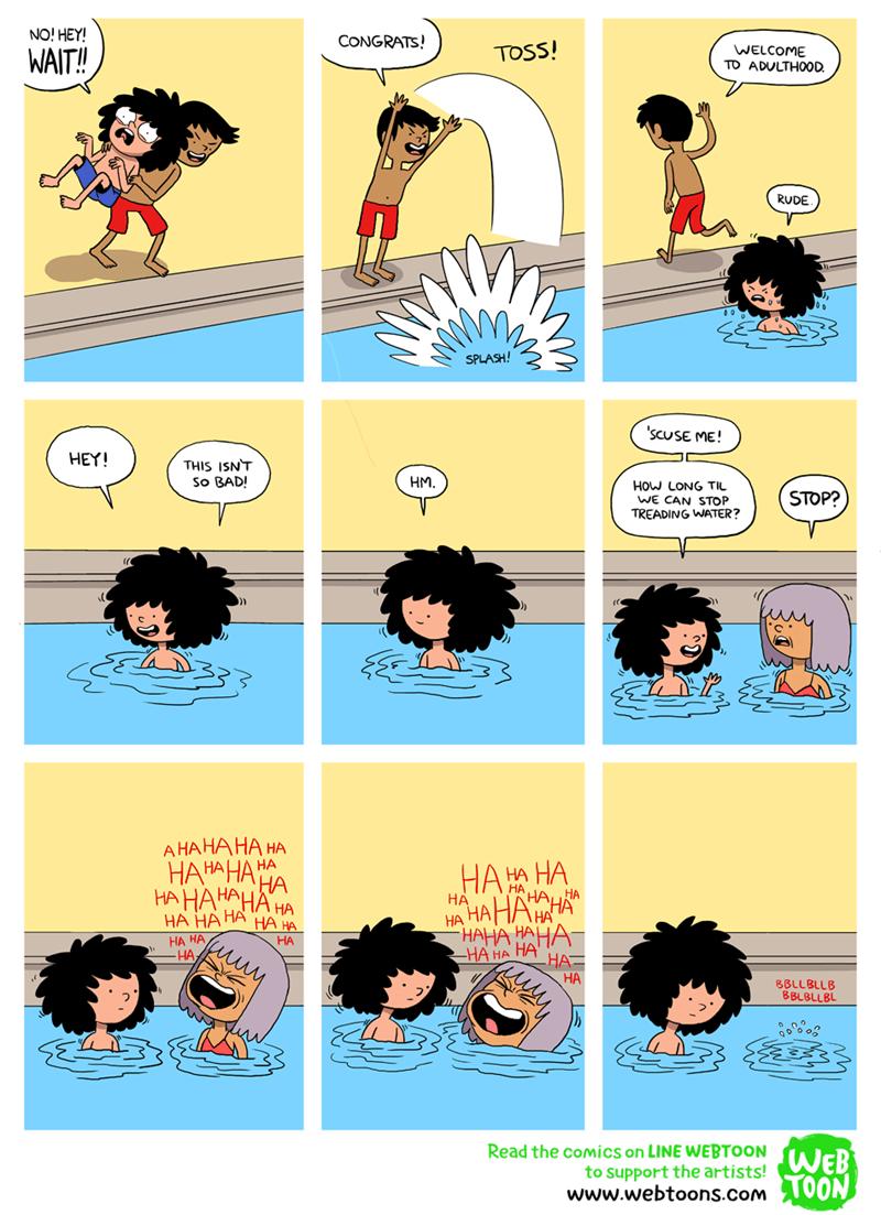web comics pool metaphor You Should've Brought Some Floaties