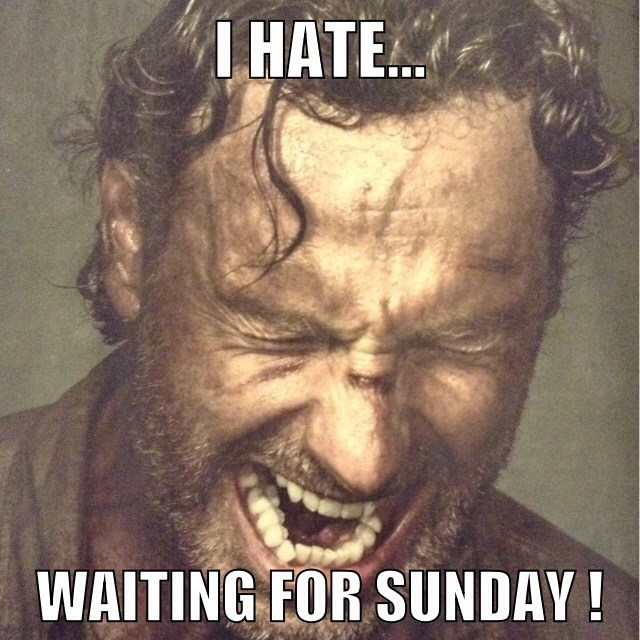 hate waiting the walking dead