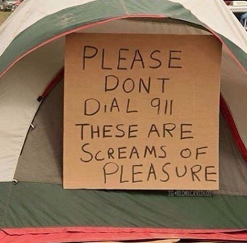 camping sign irl