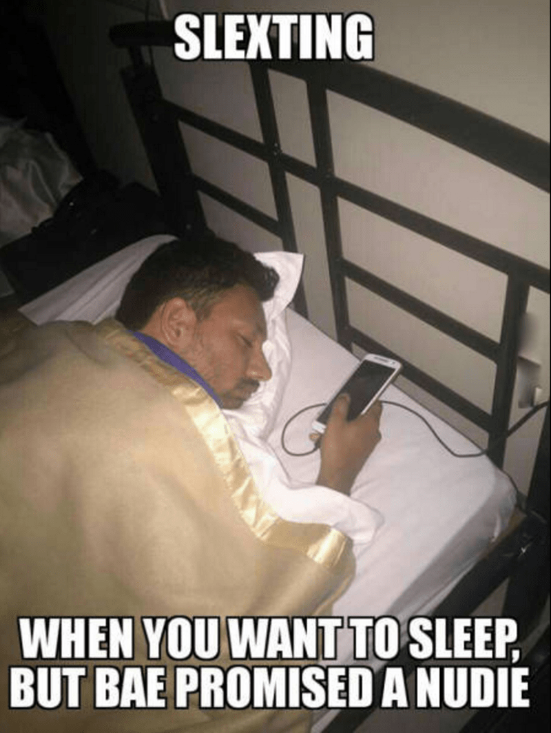 sleep,texting,sexting