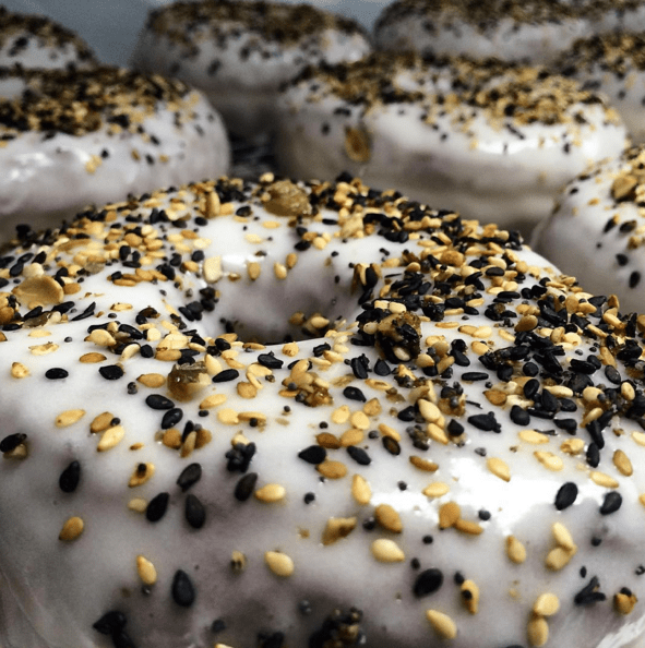 donuts bagels gross This Everything Doughnut Challenges the Standards of Decency in the Pastry World